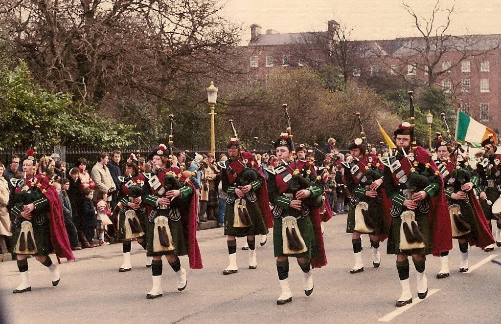 SLOT in 1977 @ The St.Patrick's Day Parade, Dublin